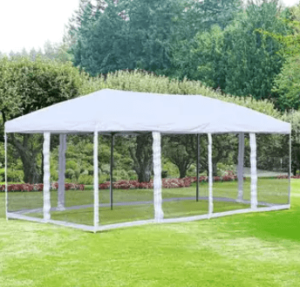 mesh wall party tent